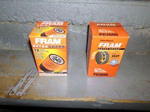 2 Fram Extra Guard Oil Filter PH3600 for Ford Ranger Pick Up Truck