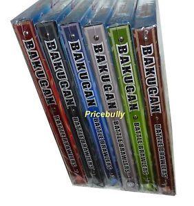 6 Assorted Bakugan Bakubinders Card Holder 6 Different Binders Holds 96 Cards Ea