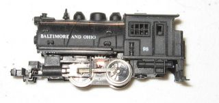 N Scale Steam Locomotive 0 4 0 Pusher Engine Marked Baltimore Ohio 98