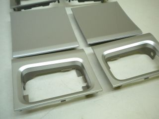 Saleen S331 Crew F150 Silver Door Trim Handle Panels