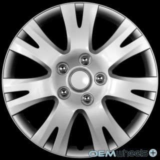 "4 New Silver 16"" Hub Caps Fits Volkswagen VW Car ABS Center Wheel Covers Set"