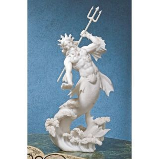 Classical Greek God Triton Son of Poseidon Sea Deity Bonded Marble Statue