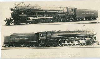TT667 RP 1928 40s NYC New York Central RR Hudson Engine 5273 Left Right Views