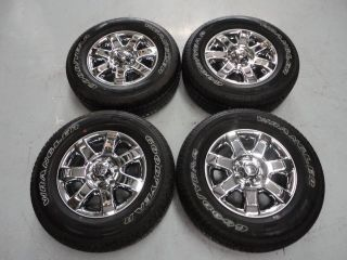 "2013 Ford F150 18"" Chrome Clad Wheels Rims Tires Factory Goodyear Wrangler"