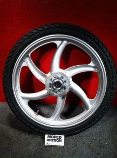 New 2013 Tomos Sprint 6 Star Rear Wheel Rim Tire Sprocket 1 5x16 Moped Motion