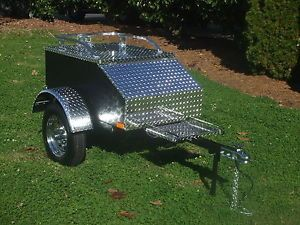 Aluminum Motorcycle Trailers Travel Luggage Pull Tow Cargo Behind Trike Bike Etc