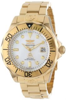 New Men's Invicta 13939 Grand Diver Automatic Gold Plated Stainless Steel Watch