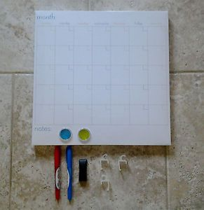 Reusable Dry Erase Magnetic Monthly Calendar Board Markers Eraser Magnets Mega
