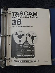 Tascam 38 8 Track Reel to Reel Tape Recorder Manual Operating Maintenance Guide