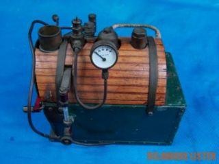 Vintage Horizontal Fire Tube Boiler Copper w Super Heater Coil for Steam Engine