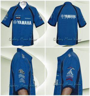 Yamaha Racing Pit Crew Shirt Royal Blue Navy 3XL $85