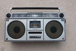 Sharp GF 9090 Ghetto Blaster Ghettoblaster Boombox Boom Box Radio Vintage Stereo