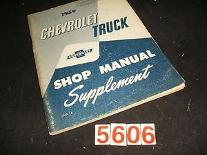 1958 Chevrolet Truck 5 Speed Transmissions Service Manual 58