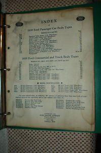 1939 Ford Car Truck Body Parts Catalog Original Parts Numbers Book RARE