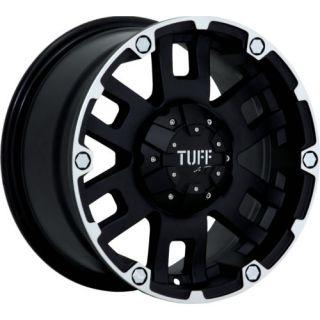 16x8 Black Tuff T04 5x5 5 10 Rims Toyo Open Country at II LT265 75R16 Tires