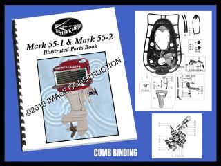 Mercury Mark 55 1 Mark 55 2 Illustrated Parts Book 34 Pages