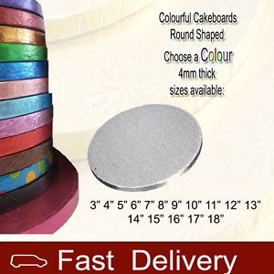 Cakeboards 4mm Thick Round Cake Boards All Cakeboard Colours Available