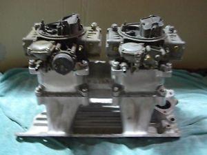 Chrysler Mopar 318 360 Weiand 2x4 Tunnel RAM with Holley Carburetors Rat Rod