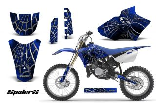 Yamaha YZ85 2 Stroke 2002 2014 Graphics Kit Decals Spiderx SXBL