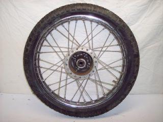 73 74 78 Honda CL125 CL 125 100 CB CB125 CB100 Scrambler Rear Tire Hub Rim Wheel