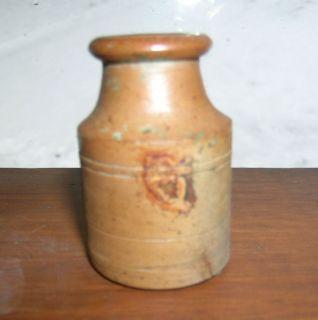 Civil War Era Antique Stoneware Ink Bottle 1