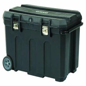 Stanley Potable Gallon Wheel Mobile Chest Tool Box Chest w Removable Organizer