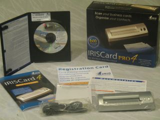 Business card scanner iris cardscan pro 4 reheart