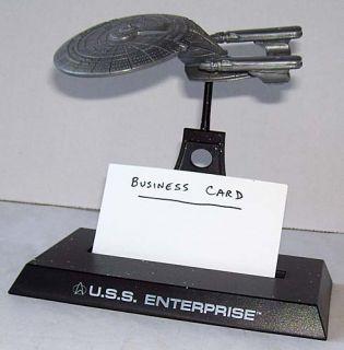 Star Trek Next Generation Enterprise Business Card Holder Applause 1994