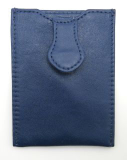 Rowallan Leather Business Card Case Alison Business Card Holder Monaco Blue