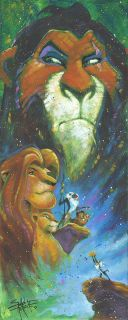 Wicked Brother Lion King Disney Fine Art Giclee by Stephen Fishwick New