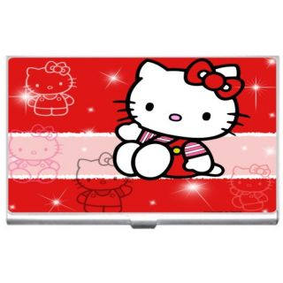 Hello kitty id holder new hello kitty metal business credit card case holder reheart Images