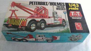 Vintage AMT Peterbilt Holmes Wrecker Model Kit T705 1 43 Scale Original Box