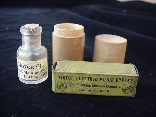 Victor Talking Machine Electric Motor Grease and Oil Phonograph Grammophone USA