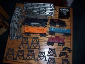 Marx Allstate  Vintage Old Train Set Steam Engine 1666 O Gauge Scale