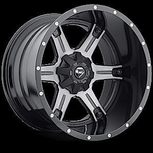 20x10 Fuel Offroad 2 PC Driller Black Machined Rims Truck Wheels Falken Tires