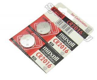 2pc Original Maxell CR2016 Watch Lithium Button Coin Cells Batteries Battery 3V
