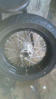 """Harley Davidson Dyna 17"""" 180mm Rear Wheel Black Powdercoated Original"""
