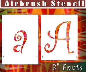 "3"" Letter Alphabet Airbrush Stencil Template Paint DIY Home Decor Art 002008Y 9"