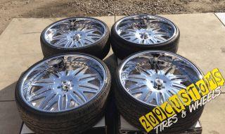 "Used 26"" inch asanti Wheels Rims Tires AF151 Chevelle Camaro Monte Carlo Regal"