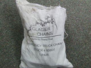Glacier Emerggency V Bar Snow Tire Chains Heavy Truck Web Strap Fastener 1 Pair