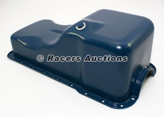 SBF Ford 289 302 Blue Front Sump Oil Pan Stock Style Passenger Car Small Block