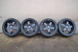 """24"""" asanti AF165 Black Wheels Rims Toyota Tundra Sequoia Lexus LX Forgiato Toyo"""