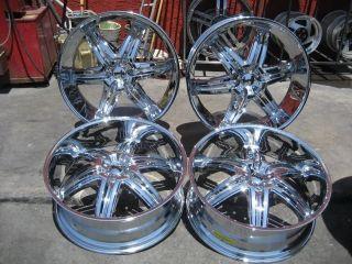 """26"""" Dub Illusion Chrome Wheels Rims and Tires Package Gianna Lexani asanti MHT"""