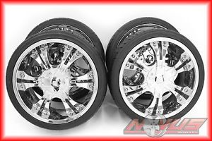 """20"""" Shooz Aftermarket Chrome Wheels Tires Nissan Infinity Ford GMC Chevy"""