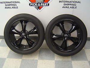 """10 12 Mustang GT Shelby Aftermarket Set of FOOSE Legend Black Wheels Tires 20"""""""