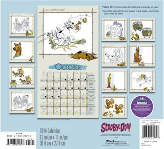 Scooby Doo Animated Art 16 Month 2014 Wall Calendar Style 2 New SEALED