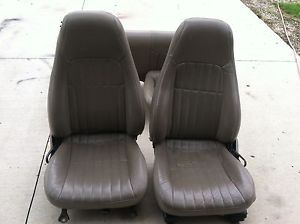 1998 2002 Camaro SS and Trans Am Firebird Leather Seats Neutral Tan Color