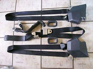 1973 87 GMC Chevy Truck Silverado Sierra Black Seatbelts Seat Belts