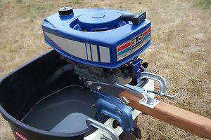 Vintage 1973 Eska 3 HP Outboard Engine Motor