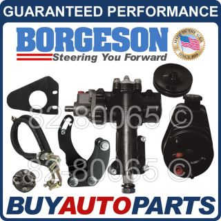 Genuine Borgeson Power Steering Conversion Kit 55 56 57 Chevy Small Block 999005